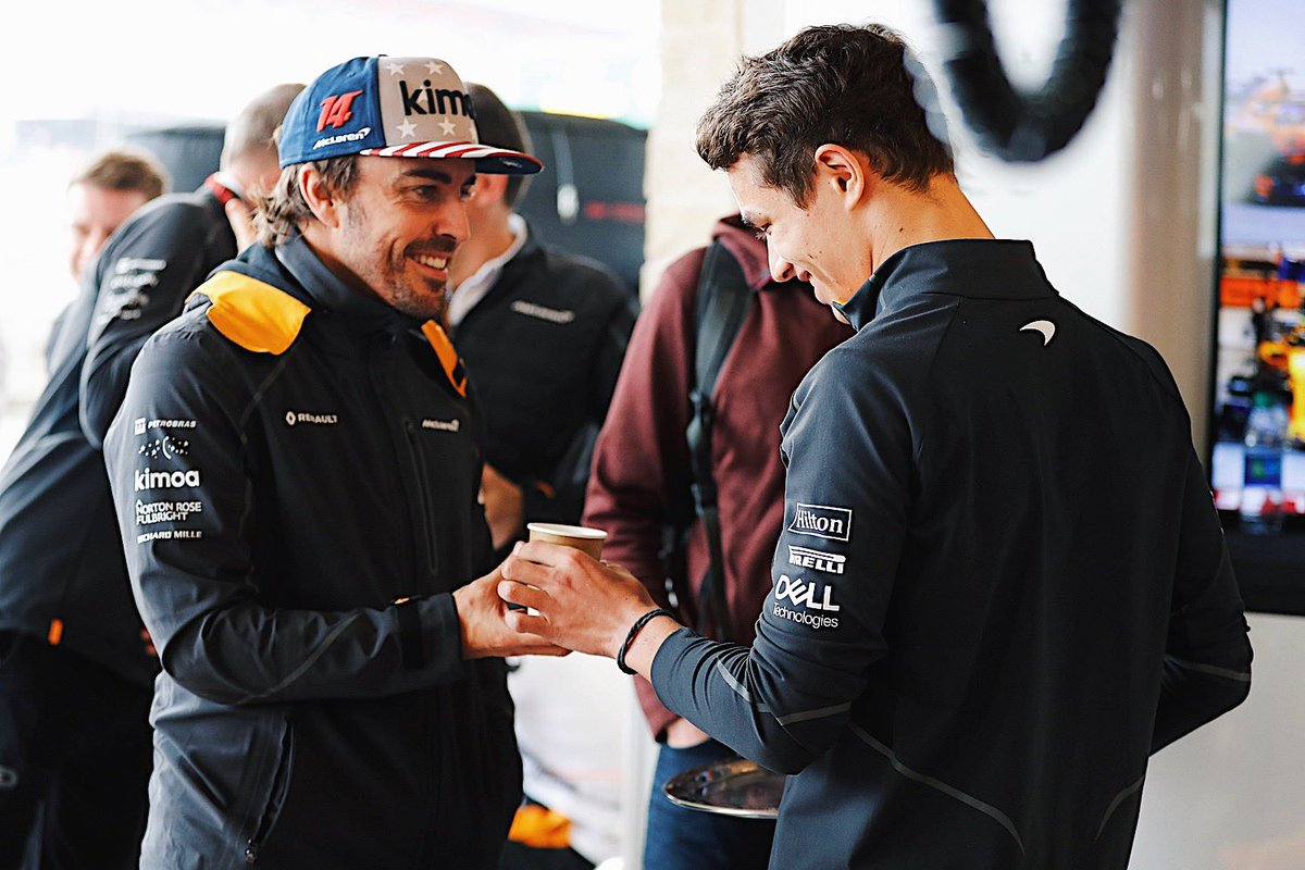fernando-alonso-lando-norris-coffee